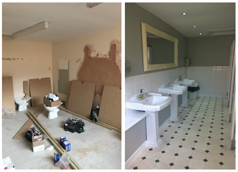 Toilet refurbishment - Banqueting Suite..