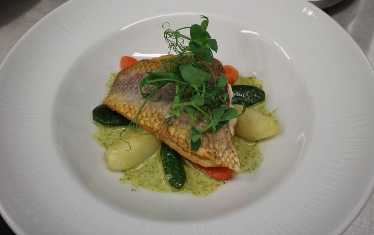 Sea Bass Dish.