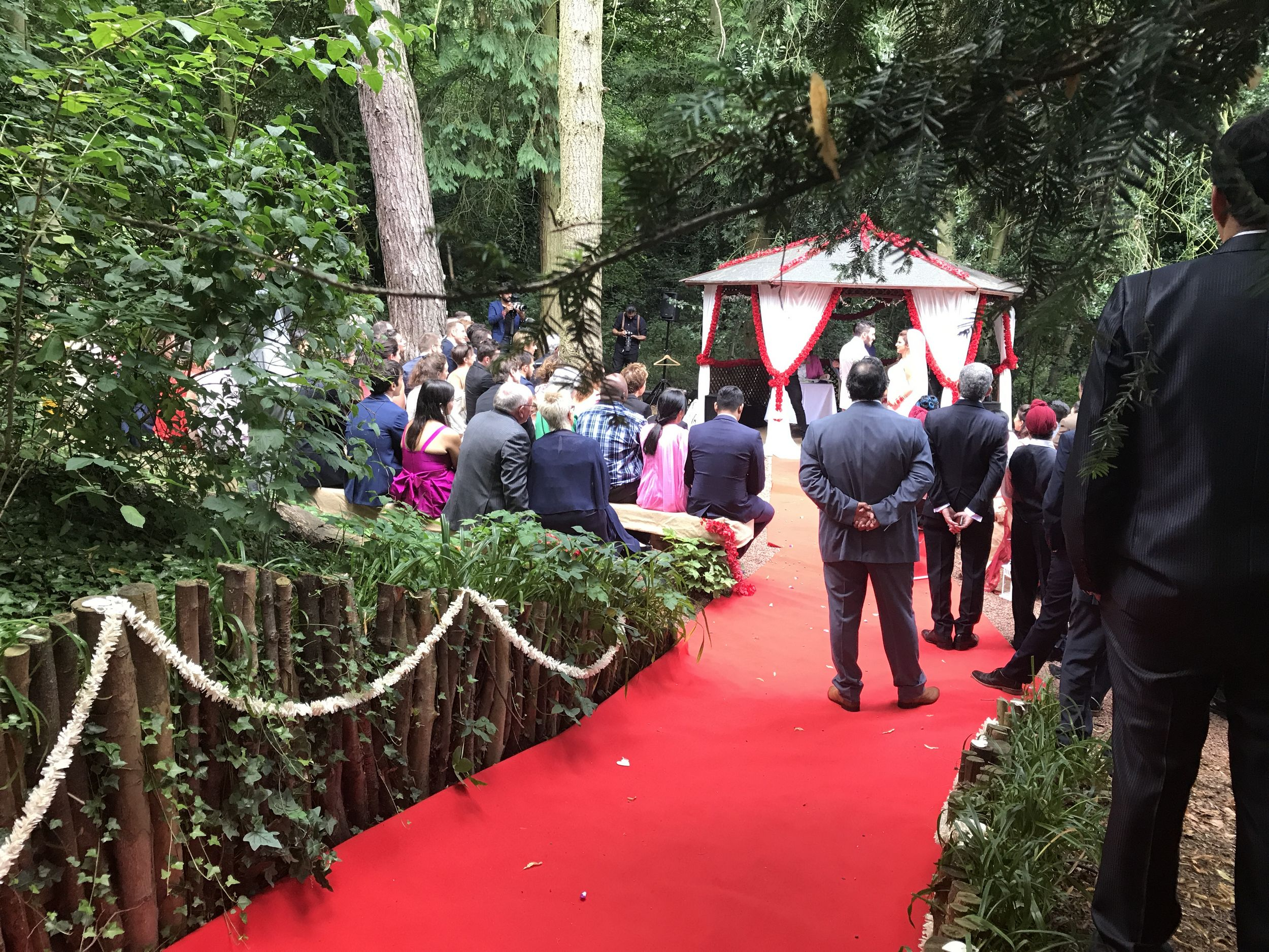 Asian wedding ceremony in The Glade
