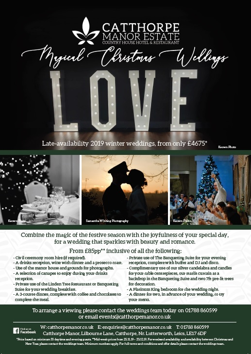 Christmas 2019 Late-Availability Weddings